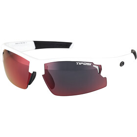 Tifosi Escalate FH Brille Herren matte white - clarion red/ac red/clear